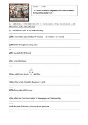 image relating to A Christmas Carol Worksheets Printable known as A Xmas Carol - ESL worksheet as a result of Minie
