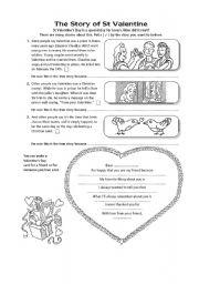 English Worksheets: St.Valentin