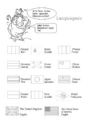 English Worksheets: Languages