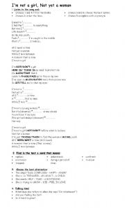 English Worksheets: I�m not a girl