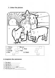 English Worksheet: farm animals III
