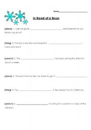 English Worksheets: In Need of A Noun