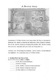 English Worksheets: A Busy Day