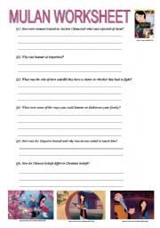 Printables Elementary Education Worksheets english teaching worksheets mulan movie worksheet level elementary age 9 14 downloads 23
