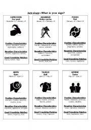English Worksheets: Astrology 101