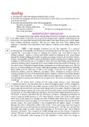 English Worksheets: magnificient obsession