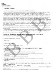 English Worksheets: exam questions 6(ELEMENTARY)