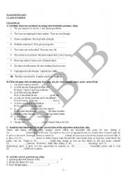 English Worksheets: exam questions 7 (elementary)