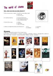 English Worksheet: The world of cinema