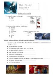 English Worksheets: The Polar Express