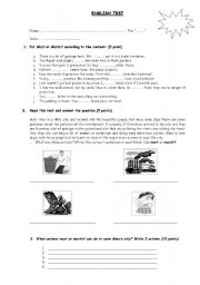 English Worksheets: Use of Must - Must not
