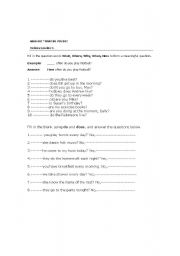 English Worksheets: handout