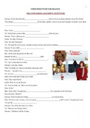 English Worksheets: Christmas with the Kranks - Movie Trailer