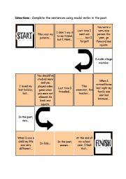 English Worksheet: Board game - modal verbs