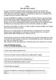English Worksheets: UFO�s