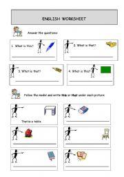 English Worksheets: that-those