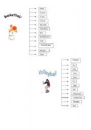 English worksheet: vocabulary about sports
