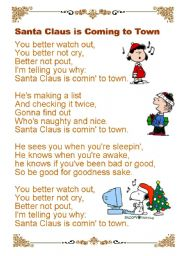 English Worksheets: Santa Claus is coming to town