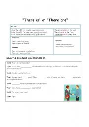 English Worksheets: there is are