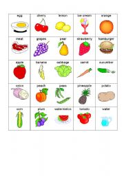 English teaching worksheets: Food games
