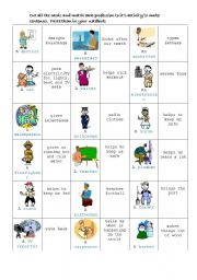 English Worksheet: Jobs game