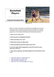 English Worksheet: webquest basketball players