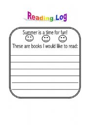 English Worksheet: Reading log and story maps templates