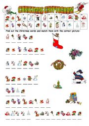 English Worksheet: Xmas Cryptogram