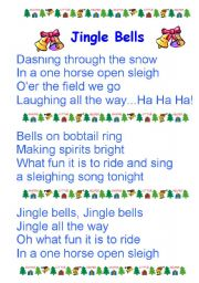 graphic relating to Jingle Bells Lyrics Printable named Jingle Bells worksheets