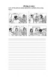 English Worksheets: Writing Activty (pictures story)
