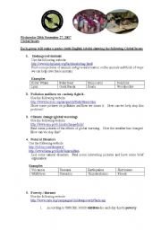 English Worksheets: Global Issues