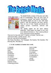 English Worksheets: British Media