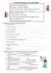 English Worksheet: If conditionals(type 0 and 1)