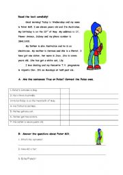 English Worksheets: peter mill