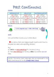 English Worksheets: Past Continous