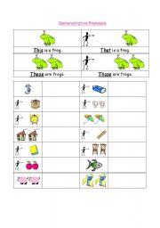 English worksheets: DEMONSTRATIVE PRONOUNS