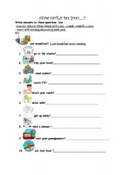 English Worksheet: ADVERBS OF FREQUENCY
