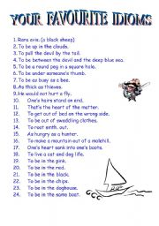 Proverbs and Idioms Ideas (Three Sheets) - ESL worksheet by
