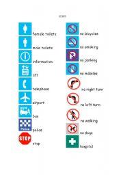 English Worksheets: Signs