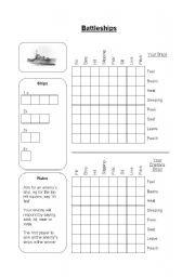 English Worksheets: Battleships