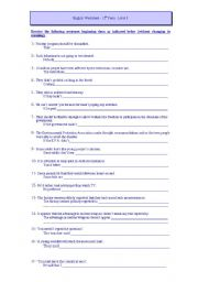 English Worksheet: Grammar 12th Grade
