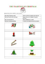 English Worksheet: The Tradition of Christmas