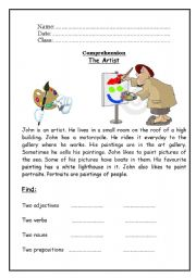 English Worksheets: The Artist