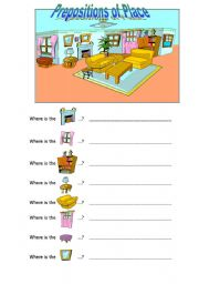 English Worksheets: Where is...?