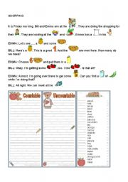 English Worksheets: COUNTABLES AND UNCOUNTABLES
