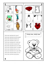 English Worksheets: TEDY BEAR RHYME