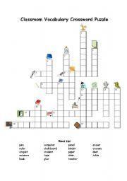Classroom Vocabulary Crossword Puzzle