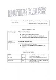 relative clauses worksheet by nanda gon alves. Black Bedroom Furniture Sets. Home Design Ideas