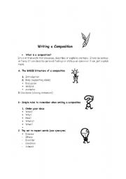English Worksheets: Writing a composition