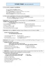 English Worksheet: WILL AND GOING TO EXPLANATION